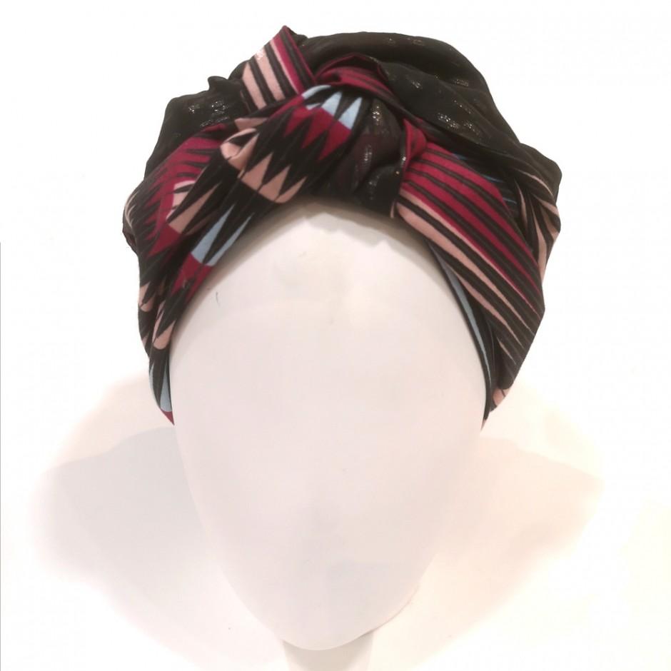Diawara black and pink turban