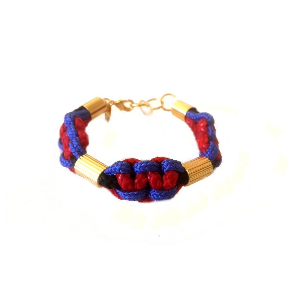 Red and purple bracelet M