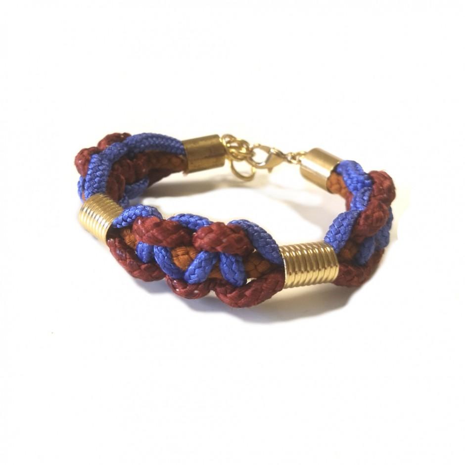Brown and purple bracelet M