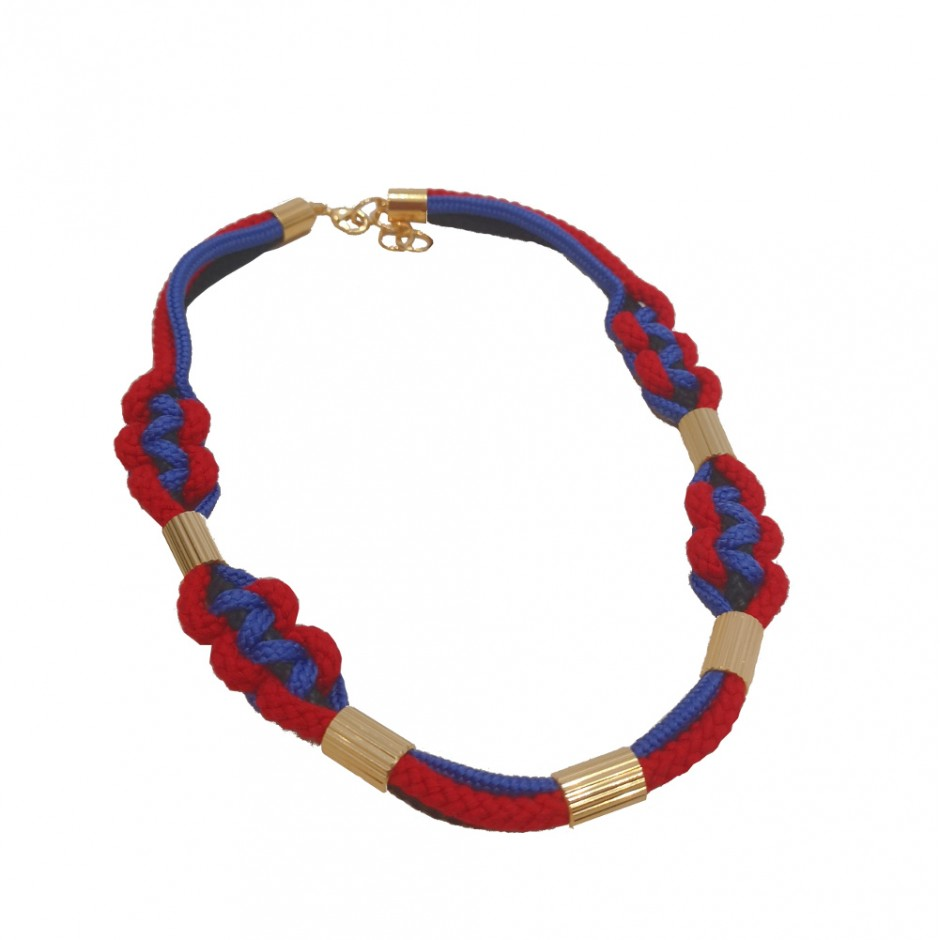 purple and red necklace M
