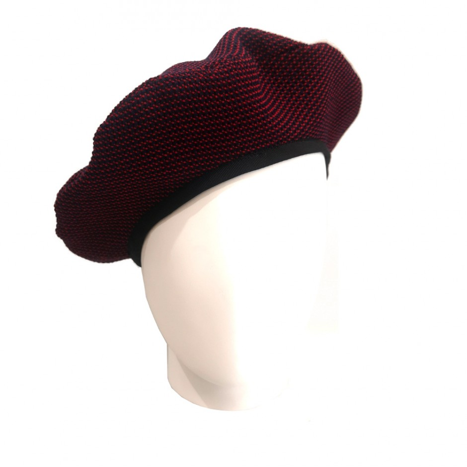 Blue and red  beret