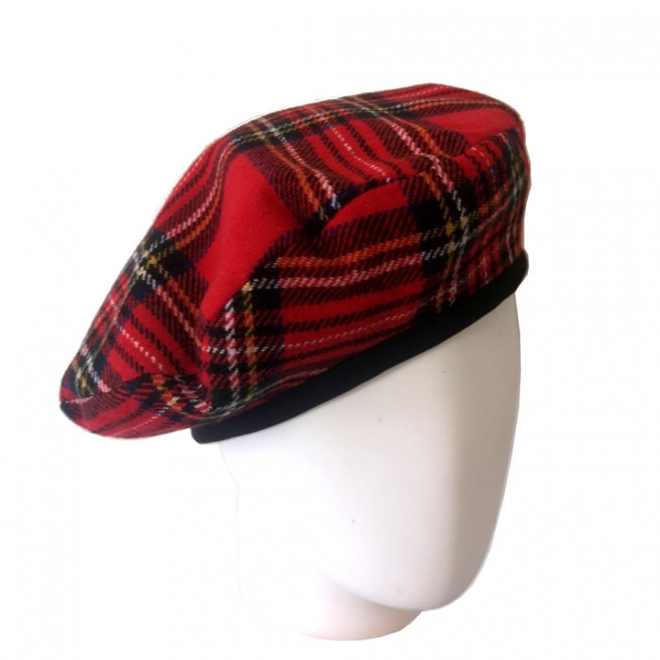 Béret écossais rouge